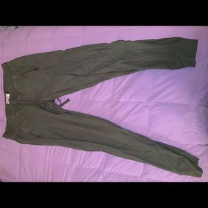 Pants - army green joggers